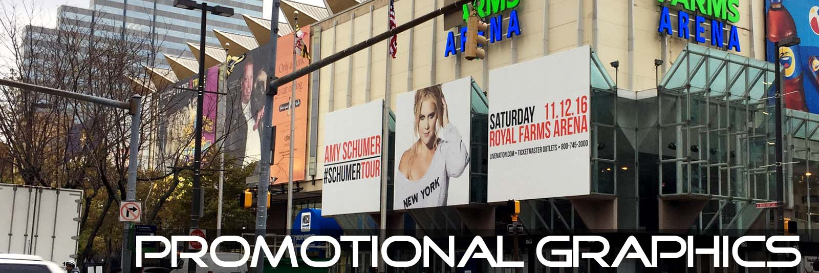 vinyl window graphics Amy-Schumer Promotional Graphics