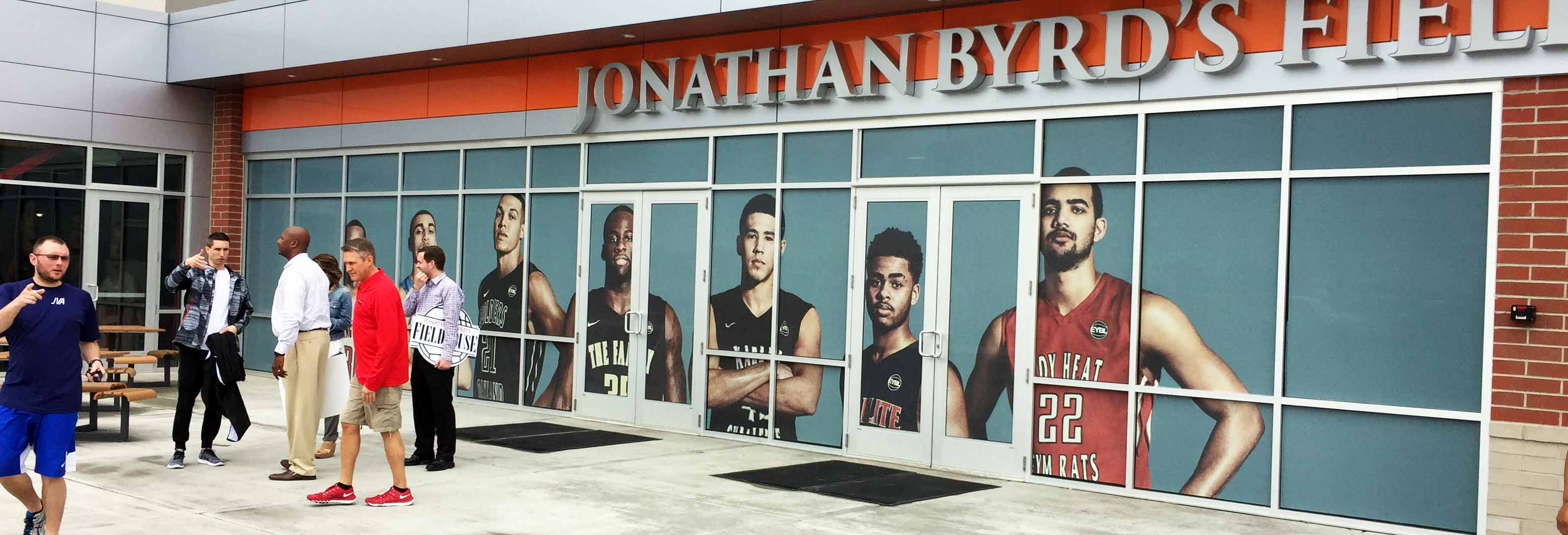 jonathan byrd's fieldhouse window view thru branding