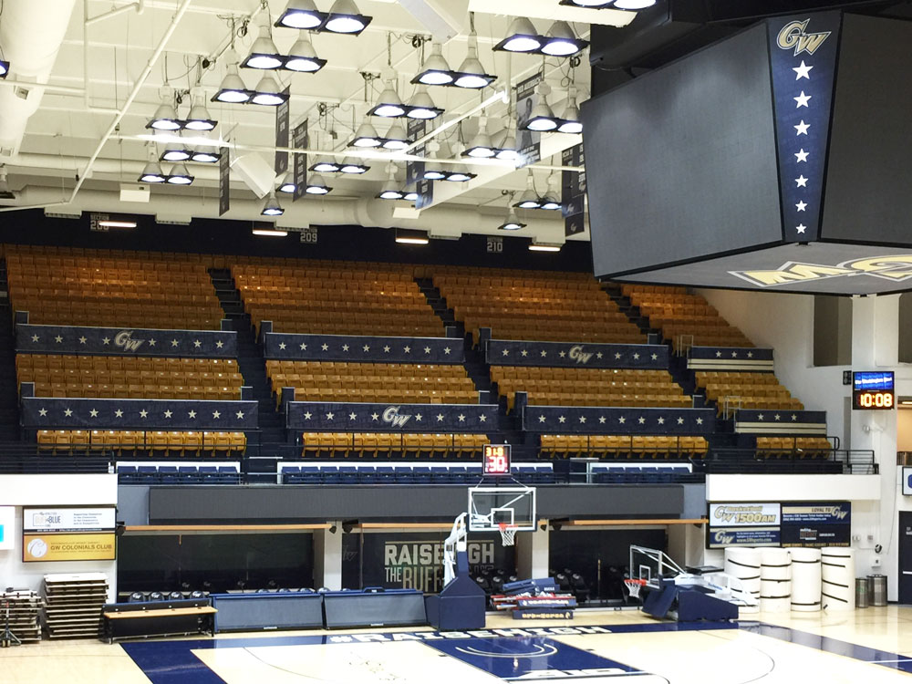 George Washington University Smith Center arena branding large banners