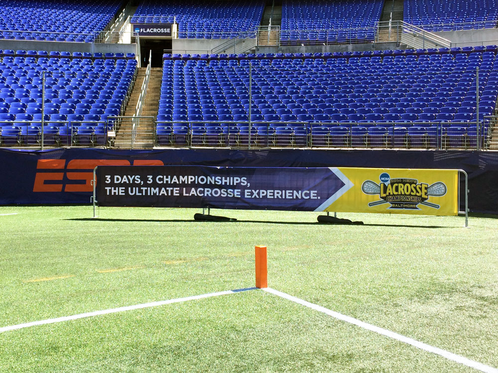 Ncaa Lacrosse national championship game banners and signs