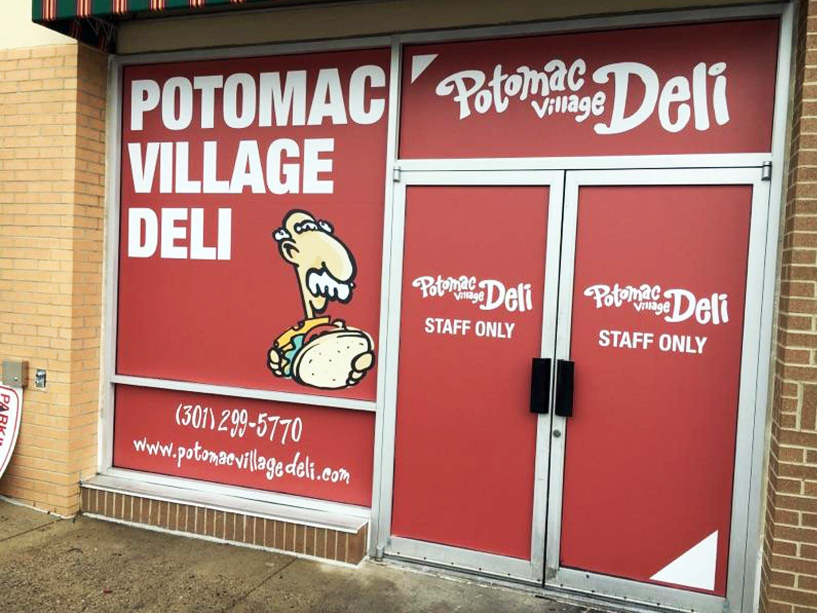 potomac village deli full coverage vinyl window graphics