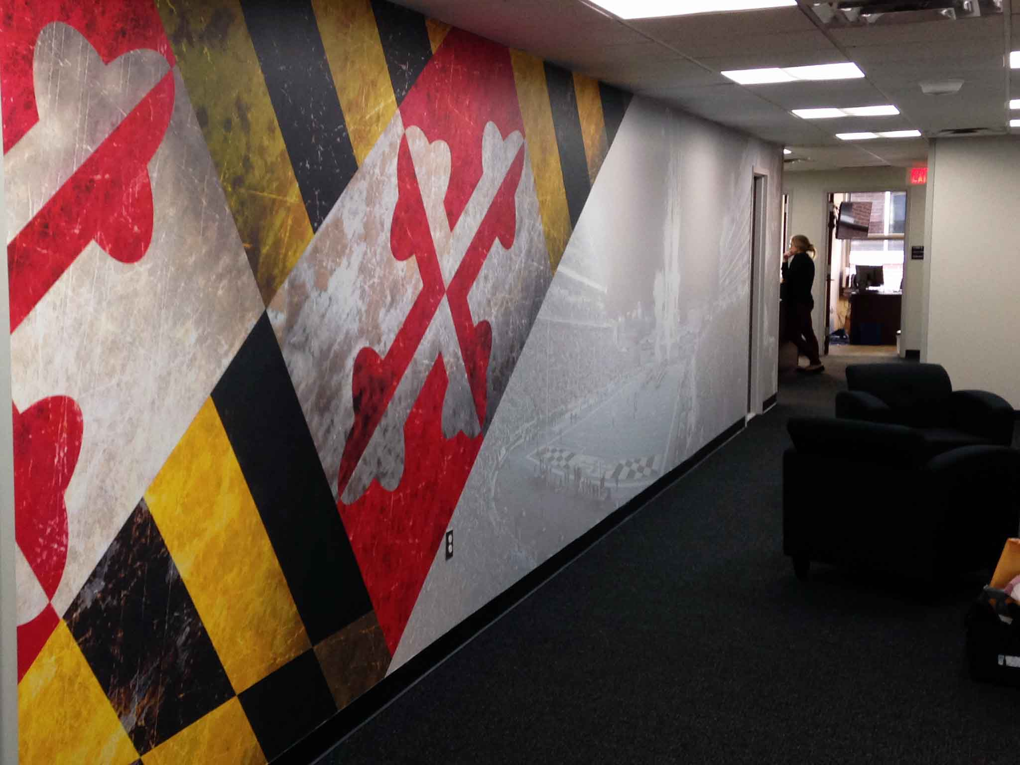 umd full coverage vinyl wall grphic